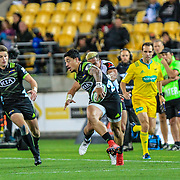 Ben Lam  during the Super Rugby union game between Hurricanes and Sunwolves, played at Westpac Stadium, Wellington, New Zealand on 27 April 2018.   Hurricanes won 43-15.