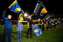 Worcester Warriors flagbearers - Rogan/JMP - 05/01/2018 - RUGBY UNION - Sixways Stadium - Worcester, England - Worcester Warriors v Bath Rugby - Aviva Premiership.