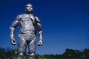 Statue of Mr. Sando Sangarathas, near Batticaloa.
