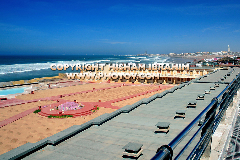 Ain Diab Beach, Casablanca, Morocco. Ain Diab is a commune located at the Corniche of Casablanca, Morocco.