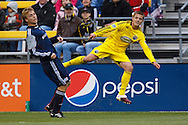 8 MAY 2010:  during MLS soccer game between New England Revolution vs Columbus Crew at Crew Stadium in Columbus, Ohio on May 8, 2010. The Columbus defeated New England 3-2.