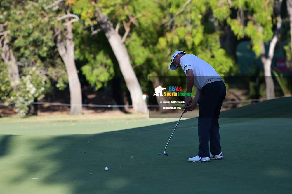 PERTH, AUSTRALIA - FEBRUARY 15: Michael Hoey (NIR) on the 18th green during the 2nd round of the ISPS Handa World Super 6, Lake Karrinyup Country Club, Perth, Western Australia, on February 15, 2019. <br /> .<br /> .<br /> .<br /> (Photo by: Naratip Golf Srisupab/SEALs Sports Images)<br /> .<br /> Any image use must include a mandatory credit line adjacent to the content which should read: Naratip Golf Srisupab/SEALs Sports Images