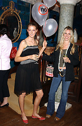 Left to right, CHARLOTTE WHEELER daugher of Stuart Wheeler and sister of model Jacquetta Wheeler and ALEXANDRA AITKEN at the No Campaign's Summer Party - a celebration of the 'Non' and 'Nee' votes in the Europen referendum in France and The Netherlands held at The Peacock House, 8 Addison Road, London W14 on 5th July 2005.<br />