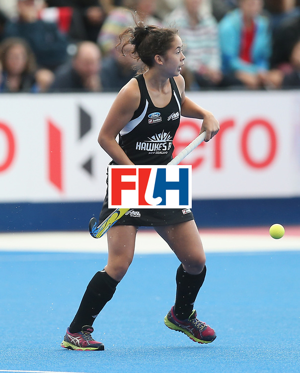 LONDON, ENGLAND - JUNE 21: Julia King of New Zealand during the FIH Women's Hockey Champions Trophy match between New Zealand and Great Britain at Queen Elizabeth Olympic Park on June 21, 2016 in London, England.  (Photo by Alex Morton/Getty Images)