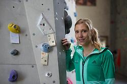 Mina Markovic, during Slovenija Pleza event when presented Slovenian Olympic Climbing Team for Olympic Games Tokio 2020, on April 12, 2017 in Plezalni center Ljubljana, Ljubljana, Slovenia. Photo by Anze Petkovsek / Sportida