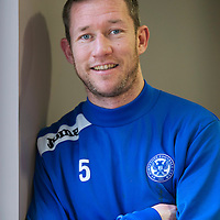 St Johnstone's Frazer Wright all smiles after signing a new contract that will keep him at McDiarmid Park through the 2014-15 season......18.02.14<br /> Picture by Graeme Hart.<br /> Copyright Perthshire Picture Agency<br /> Tel: 01738 623350  Mobile: 07990 594431