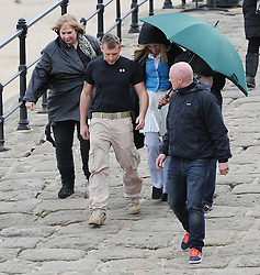 © Licensed to London News Pictures. 24/04/2013..Saltburn, England..Singer Pixie Lott walks on to the film set of Inspector George Gently in Saltburn, Cleveland. The singer is playing a role in the police series that is currently filming its seventh series for the BBC and which stars Martin Shaw as the Police Inspector...Photo credit : Ian Forsyth/LNP