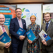 17.05.2016               <br /> A seminar focused on a Start your Own Business programme, targeted at mature entrepreneurs aged 55 plus took place in the Savoy Hotel, Limerick on Tuesday evening, 17 May.  Called Ingenuity, the programme, led by the Ireland Smart Ageing Exchange (ISAX) and sponsored by Bank of Ireland will be run in collaboration with the Local Enterprise Office in Limerick, and will take place over eight weeks, starting in late September 2016.  The seminar provided detailed information on the Start your Own Business programme that will seek interest from those looking to set up both lifestyle and fast-growth businesses.  <br /> <br /> Pictured at the event are, John McNamara, Entrepreneur-in-Residence LIT, Pat Carroll, Start-up Community Manager, Bank of Ireland, Briga Hynes, UL and Anthony Coleman, Local Enterprise Office, Limerick. Picture: Alan Place
