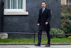 © Licensed to London News Pictures. 13/03/2018. London, UK. Secretary of State for Health and Social Care Jeremy Hunt on Downing Street for the Cabinet meeting. Photo credit: Rob Pinney/LNP