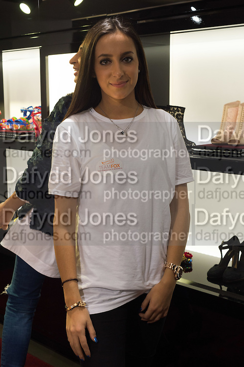 LYDIA SCOLARO; , Anna Scolaro hosts a charity shopping event at  Dolce and Gabbana, 175 Sloane St. London. In aid of TeamFox.org for Parkinsons. 10 February 2016
