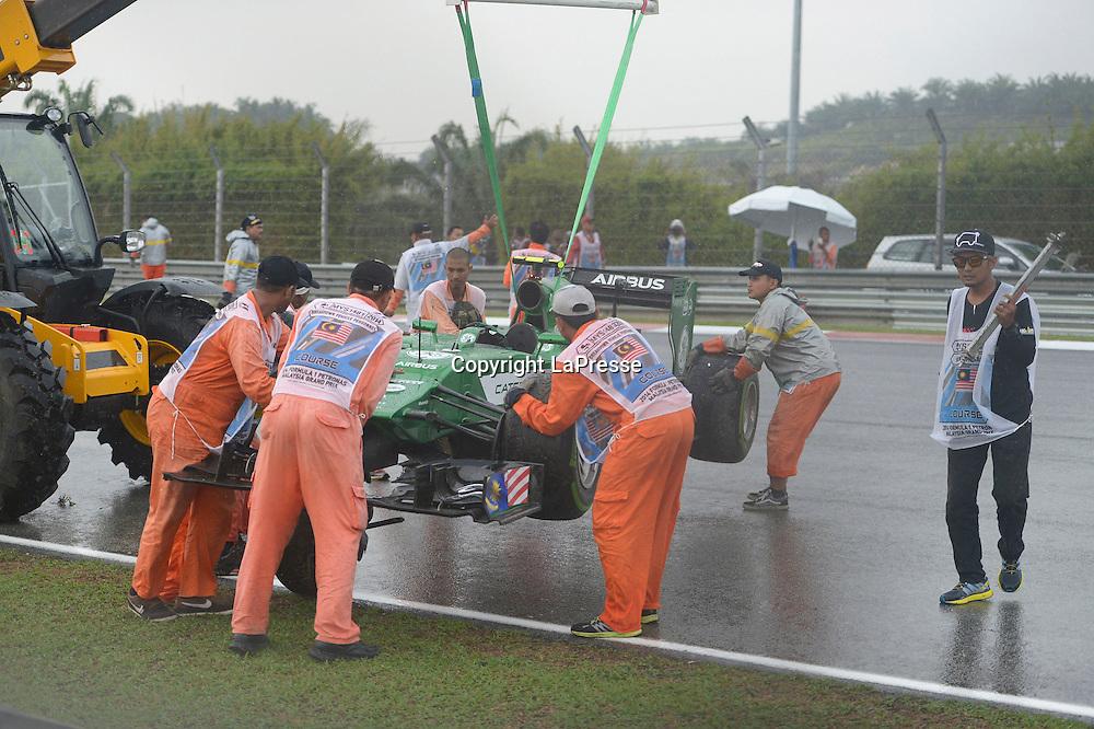 &copy; Photo4 / LaPresse<br /> 29/3/2014 Sepang, Malaysia<br /> Sport <br /> Grand Prix Formula One Malaysia 2014<br /> In the pic: Marcus Ericsson (SUE) Caterham F1 Team CT-04