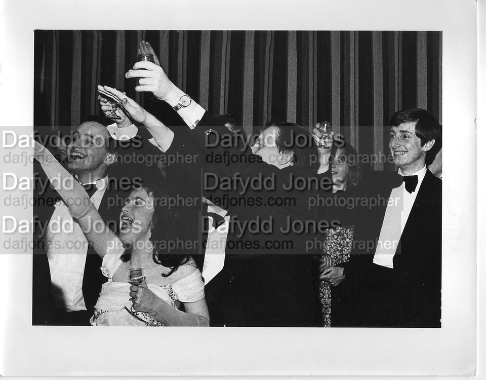 Monday club dinner in oxford 1980, ONE TIME USE ONLY - DO NOT ARCHIVE  © Copyright Photograph by Dafydd Jones 66 Stockwell Park Rd. London SW9 0DA Tel 020 7733 0108 www.dafjones.com