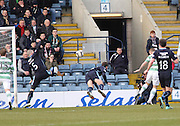 Celtic&rsquo;s Leigh Griffiths heads his side ahead early in the match  - Dundee v Celtic, William Hill Scottish Cup fifth round at Dens Park <br /> <br /> <br />  - &copy; David Young - www.davidyoungphoto.co.uk - email: davidyoungphoto@gmail.com