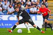 George Evans of Derby County (17) in action during the EFL Sky Bet Championship match between Huddersfield Town and Derby County at the John Smiths Stadium, Huddersfield, England on 5 August 2019.