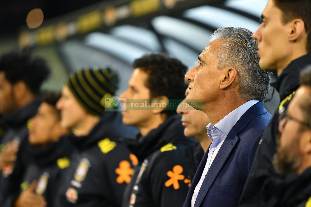 June 13, 2017 - Melbourne, Victoria, Australia - Brazil coach Tite stands for the national anthem in an international friendly match between Brazil and Australia at the Melbourne Cricket Ground on June 13, 2017 in Melbourne, Australia. Brazil won 4-0 (Credit Image: © Sydney Low via ZUMA Wire)