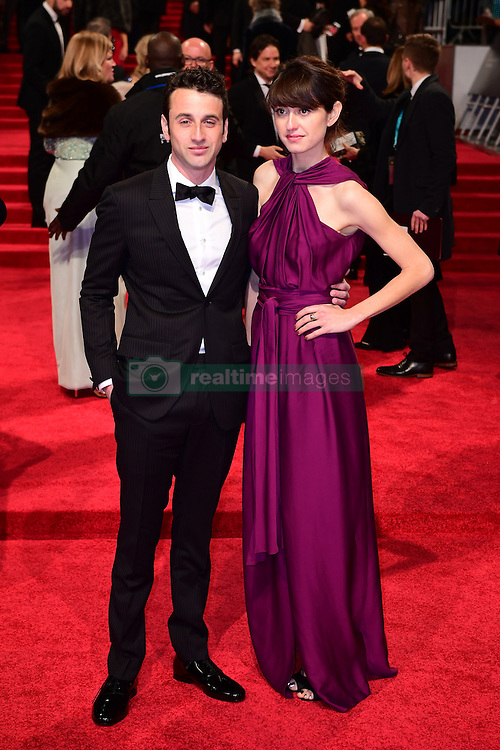 Justin Hurwitz and guest attending the EE British Academy Film Awards held at the Royal Albert Hall, Kensington Gore, Kensington, London. PRESS ASSOCIATION Photo. Picture date: Sunday 12 February 2017. See PA Story SHOWBIZ Bafta. Photo credit should read: Ian West/PA Wire