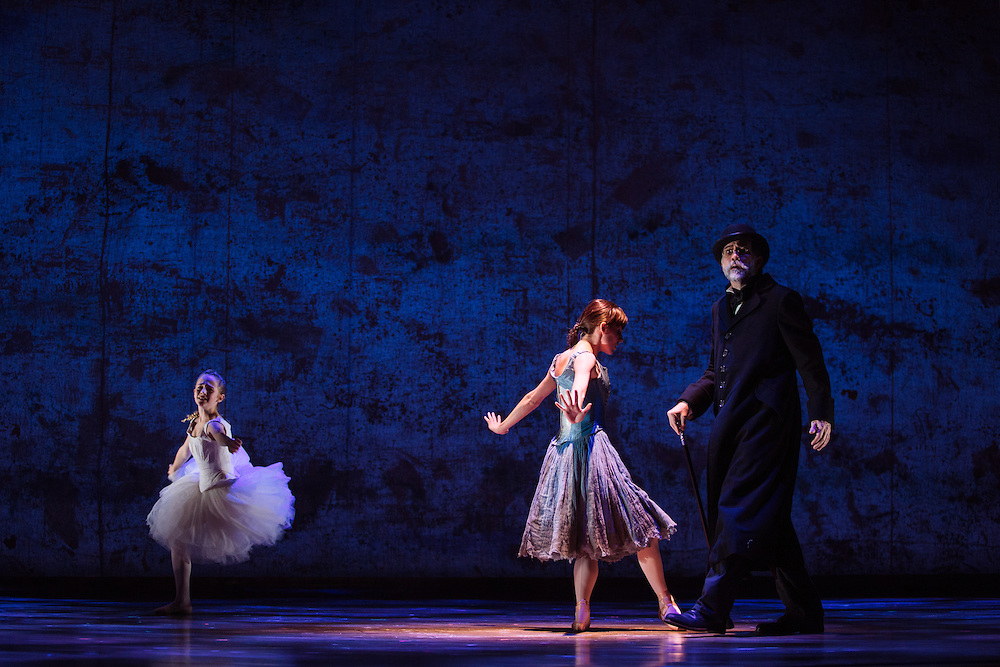"Tiler Peck performs as Young Marie van Goethem and Boyd Gaines as Edgar Degas during ""The Little Dancer Ballet"" in Little Dancer at the Kennedy Center in Washington, D.C. This is a world premiere Kennedy Center produced production that is directed and choreographed by Susan Stroman, book and lyrics by Lynn Ahrens, and music by Stephen Flaherty."