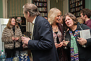 KATHY BREWIS; MICHAEL HOLROYD; EUGENIE WOODHOUSE; CAROLINE OULTON, The Love-charm of Bombs. Restless Lives in the Second World War. By Lara Feigel - book launch party. Bloomsbury Publishing, 50 Bedford Square, London, WC1, 17 JANUARY 2012.