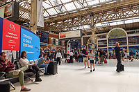 GV_Waterloo Mainline Railway Station, London, UK, Sunday, 24th June 2018, 201806244452<br />