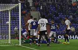 Jack Marriott of Peterborough United scores his sides second goal of the game - Mandatory by-line: Joe Dent/JMP - 26/09/2017 - FOOTBALL - Sportsdirect.com Park - Oldham, England - Oldham Athletic v Peterborough United - Sky Bet League One