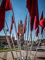 Koutoubia Mosque in Marrakech, Morocco.