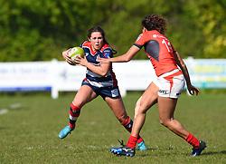 Sydney Gregson of Bristol Ladies - Mandatory by-line: Paul Knight/JMP - 09/04/2017 - RUGBY - Cleve RFC - Bristol, England - Bristol Ladies v Saracens Women - RFU Women's Premiership Play-off Semi-Final