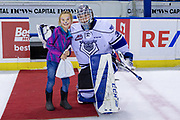 KELOWNA, CANADA - DECEMBER 07: Second Star of the Game Griffen Outhouse #30 of the Victoria Royals at the Kelowna Rockets game on December 07, 2018 at Prospera Place in Kelowna, British Columbia, Canada. (Photo By Cindy Rogers/Nyasa Photography, *** Local Caption ***