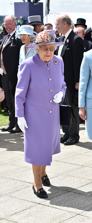 HM The Queen arrives at The Investec Derby, Epsom Racecourse, Epsom, Surrey, England. 02 June 2018.
