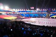 PYEONGCHANG-GUN, SOUTH KOREA - FEBRUARY 09: Athletes of Germany during the Opening Ceremony of the PyeongChang 2018 Winter Olympic Games at PyeongChang Olympic Stadium on February 9, 2018 in Pyeongchang-gun, South Korea. Photo by Nils Petter Nilsson/Ombrello     ***BETALBILD***