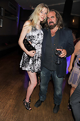 ANNETTE FELDER and ARTHUR BAKER American record producer and DJ at a party to celebrate the 10th anniversary of the restaurant Sumosan, Albemarle Street, London on 28th May 2012.