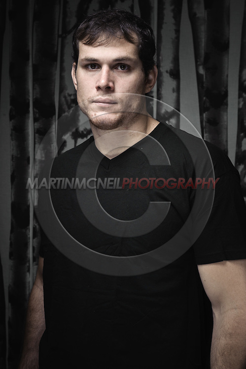 LONDON, ENGLAND, JULY 26, 2011: Roger Gracie poses for a portrait inside his Brazillian Jiu Jitsu Academy in London, England.