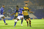 Birmingham's Jacques Maghoma and Sheffields Morgan Fox during the EFL Sky Bet Championship match between Birmingham City and Sheffield Wednesday at St Andrews, Birmingham, England on 27 September 2017. Photo by John Potts.
