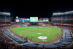 NEW YORK, NEW YORK, USA - Wednesday, July 24, 2019: A general view of Yankee Stadium with a soccer pitch at half-time during a friendly match between Liverpool FC and Sporting Clube de Portugal on day nine of the club's pre-season tour of America. (Pic by David Rawcliffe/Propaganda)