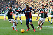 Dominic Poleon (11) of Bradford City looking for an opening during the EFL Sky Bet League 1 match between Plymouth Argyle and Bradford City at Home Park, Plymouth, England on 24 February 2018. Picture by Graham Hunt.