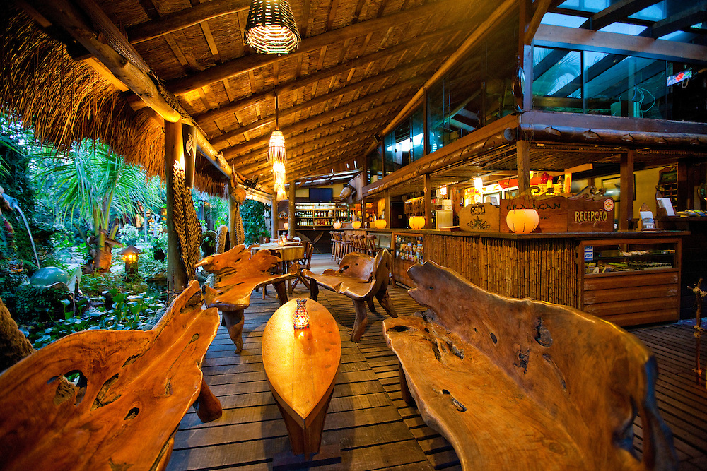 Bar at Grajagan Surf Resort on Ilha do Mel, Brazil
