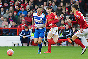 Queens Park Rangers midfielder Ben Gladwin wins the ball in midfield during The FA Cup third round match between Nottingham Forest and Queens Park Rangers at the City Ground, Nottingham, England on 9 January 2016. Photo by Aaron Lupton.
