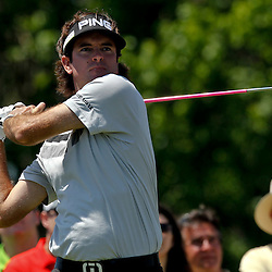 Apr 26, 2012; Avondale, LA, USA; Bubba Watson on the 9th hole during the first round of the Zurich Classic of New Orleans at TPC Louisiana. Mandatory Credit: Derick E. Hingle-US PRESSWIRE