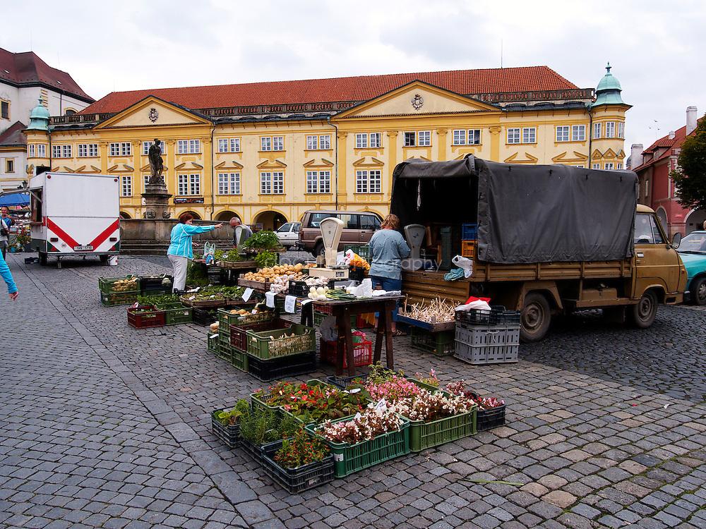 Jicin main town in the Cesky Raj, Czech republic.