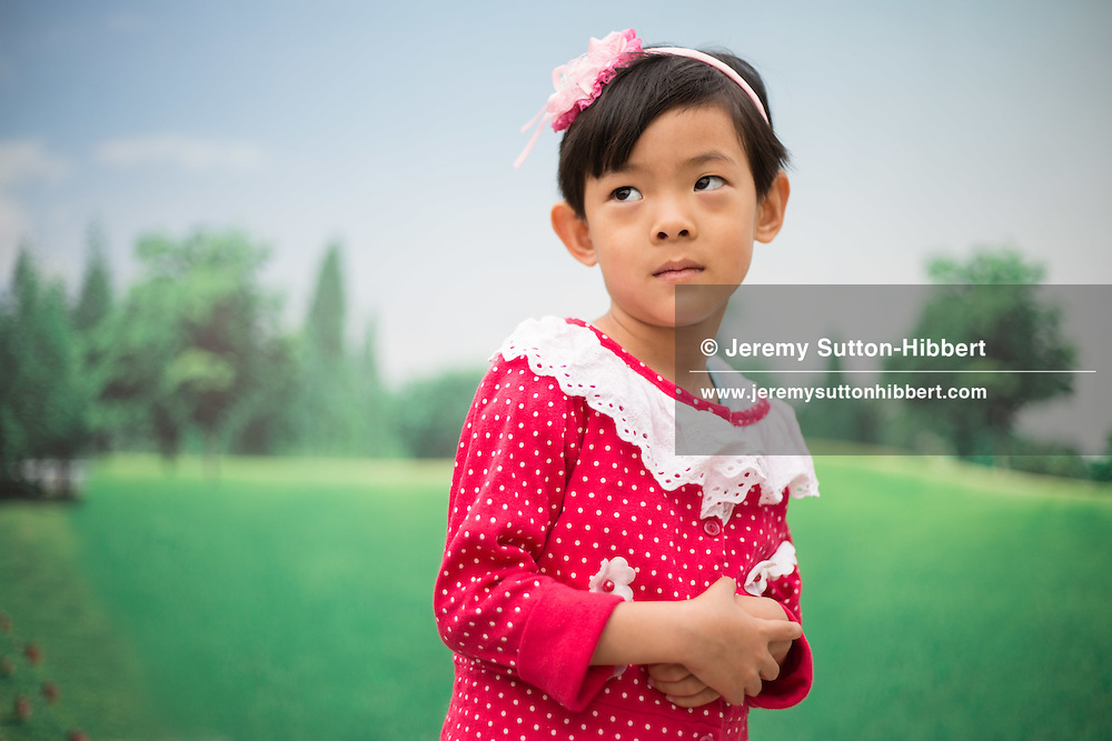 4yr old Zheng Shuxin, outside the Capital Museum, in Beijing, China, Friday 1st June 2012.