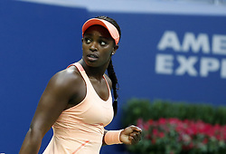 NEW YORK, Sept. 10, 2017  Sloane Stephens of the United States celebrates during the women's singles final match against Madison Keys of the United States at the 2017 US Open in New York, the United States, Sept. 9, 2017. Sloane Stephens won 2-0 to claim the title. (Credit Image: © Qin Lang/Xinhua via ZUMA Wire)