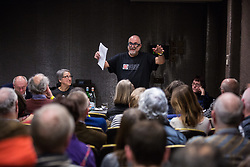 London, UK. 2nd March, 2019. David Rosenberg of the Jewish Socialist Group addresses a workshop titled 'Anti-Semitism: Re-emergence and How It's Being Fought' at the ¡No Pasaran! Confronting the Rise of the Far-Right conference at the Radisson Bloomsbury Street Hotel.