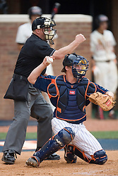 Virginia Cavaliers catcher Beau Seabury (16).  The Virginia Cavaliers defeated the Oregon State Beavers 7-4 in 13 innings during Game 4 of the NCAA World Series Regionals held at Davenport Field in Charlottesville, VA on June 2, 2007.