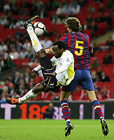 Tottenham Hotspur FC vs FC Barcelona Wembley Cup 24/07/09<br /> Photo Nicky Hayes/Fotosports International<br /> Spurs defender Pascal Chimbonda tries a spectacular overhead kick.