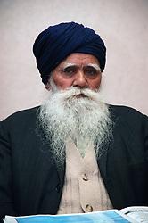 Close up portrait of a Sikh man,