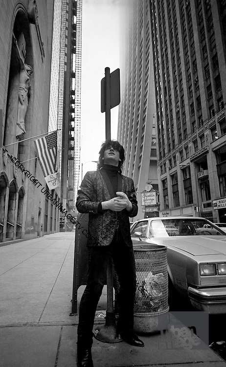Photograph of U2 Bono on USA tour day off 1981 Chicago  USA
