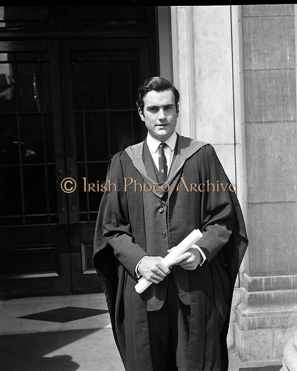 The summer conferring of degrees took place at University College, Dublin. Picture shows Mr. John Hyde..22.07.1969