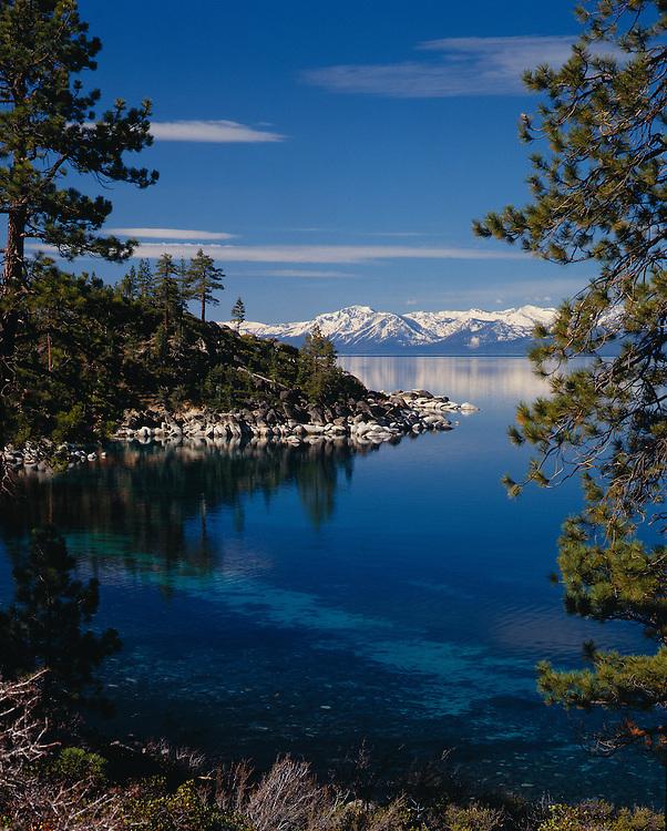 Lake Tahoe Landscape Still Water Mountain