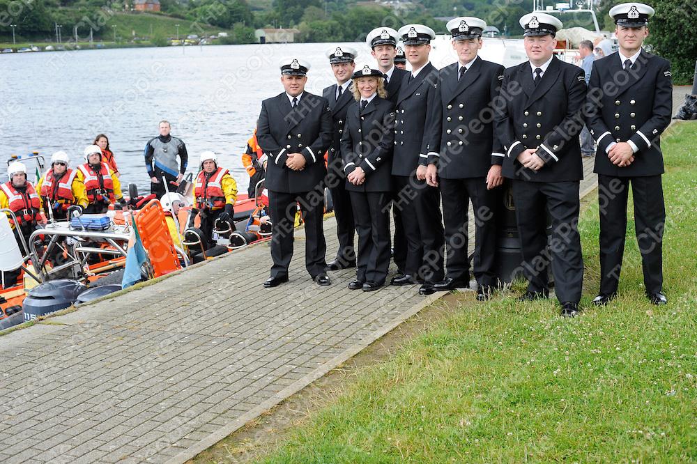 Members of the Irish coastguard at the blessing of the boats during the Feile Brian Boru in Killaloe on Sunday.<br />Patrick McHugh