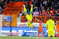 Joie / salto Yacine BAMMOU - 20.12.2014 - Lorient / Nantes - 19eme journee de Ligue 1 -<br /> Photo : Vincent Michel / Icon Sport