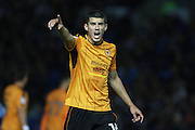 Wolverhampton Wanderers midfielder Conor Coady (16) during the EFL Sky Bet Championship match between Brighton and Hove Albion and Wolverhampton Wanderers at the American Express Community Stadium, Brighton and Hove, England on 18 October 2016. Photo by Bennett Dean.